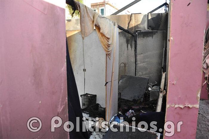 Εικόνες απόλυτης καταστροφής μετά τα επεισόδια με μετανάστες στη Χίο - εικόνα 5