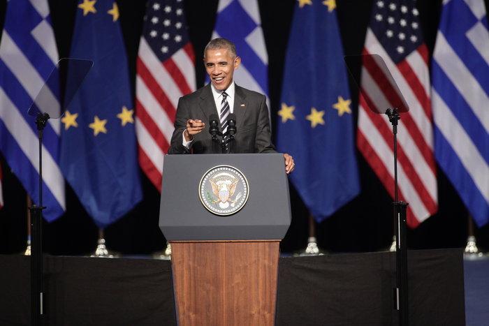 Το μυστήριο της ομιλίας Ομπάμα στο Ιδρυμα Νιάρχος: Υπήρχε ή όχι autocue - εικόνα 3