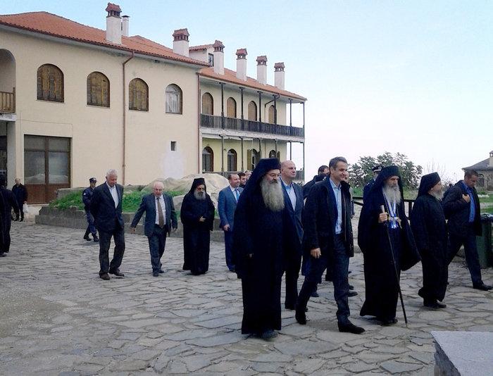 Η επίσκεψη Μητσοτάκη στο Αγιον Ορος-Δείτε εικόνες