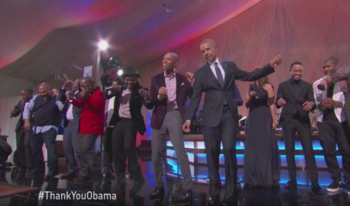 Ο Ομπάμα και η Μισέλ χορεύουν στο τελευταίο πάρτι στον Λευκό Οίκο [Βίντεο]