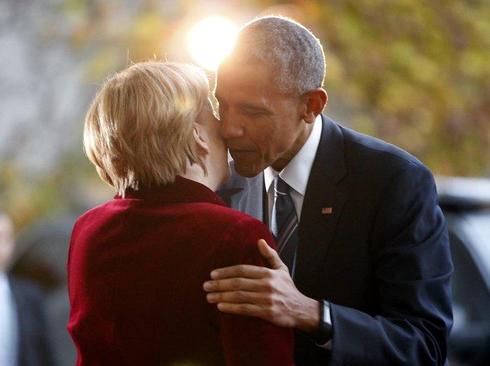 Η Μέρκελ καλωσόρισε τον Ομπάμα στην Καγκελαρία με ένα φιλί-Φωτο και βίντεο - εικόνα 2