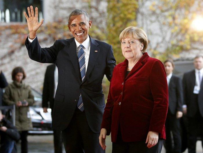 Η Μέρκελ καλωσόρισε τον Ομπάμα στην Καγκελαρία με ένα φιλί-Φωτο και βίντεο - εικόνα 3
