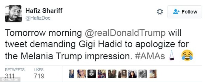 Τζίτζι Χαντίντ: Η ασεβής και ρατσιστική μίμηση της Μελάνια Τραμπ on stage - εικόνα 5