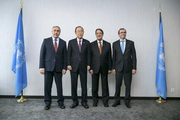 Νίκος Αναστασιάδης, Μουσταφά Ακιντζί, Μπαν Κι Μουν και Έσπεν Μπαρθ Αιντα στο Μοντ Πελεράν