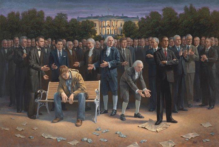 «Ο ξεχασμένος άνθρωπος». Ο πίνακας της νίκης του Τραμπ