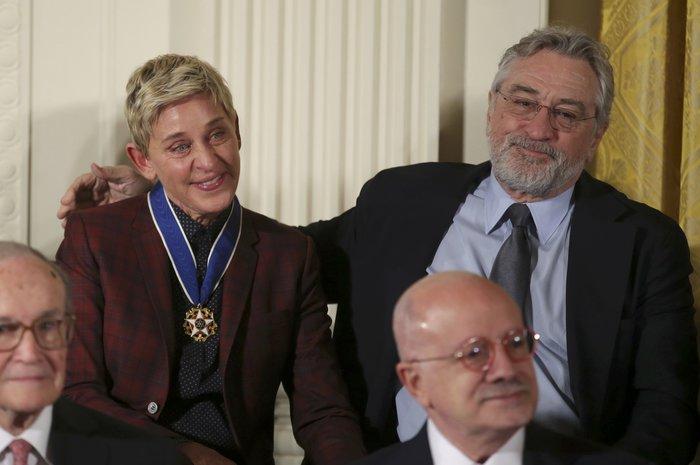 Τα δάκρυα της Ελεν ντε Τζενέρις, ο Χανκς & ο Ντε Νίρο:Η βράβευση από Ομπάμα