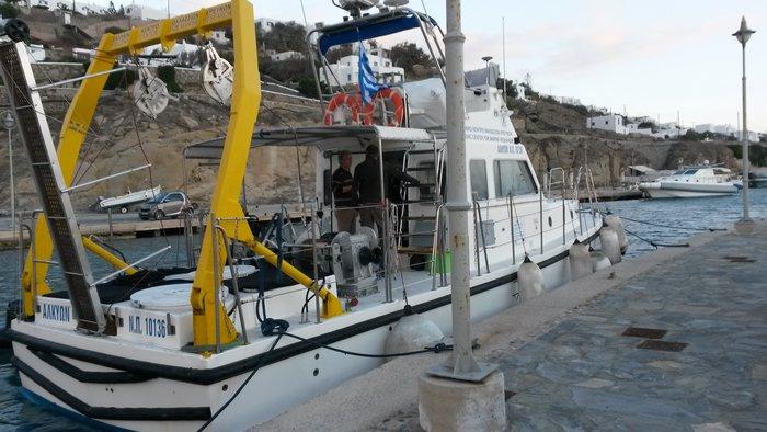 Το σκάφος Αλκυών του ΕΛΚΕΘΕ