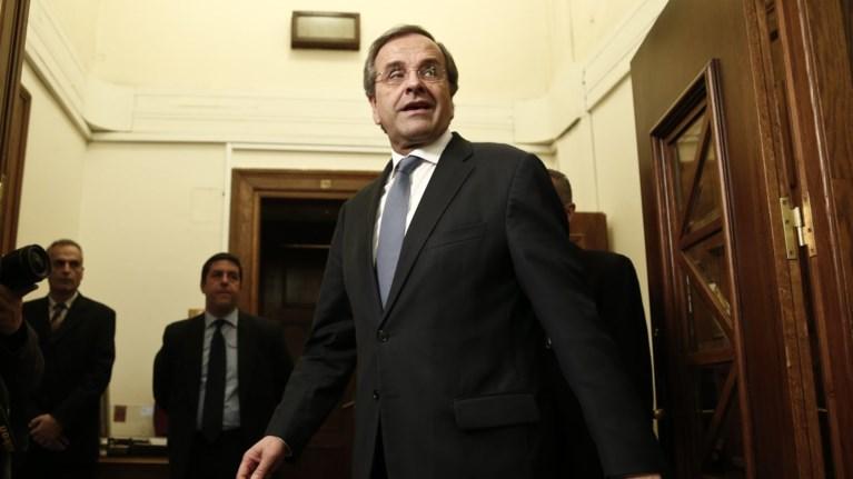Ανησυχία Σαμαρά για τα εθνικά θέματα & καρφί κατά Τσίπρα για τις εκλογές