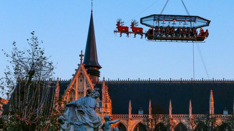 Το έλκηθρο του Αη Βασίλη έγινε... ιπτάμενο εστιατόριο στο Βέλγιο