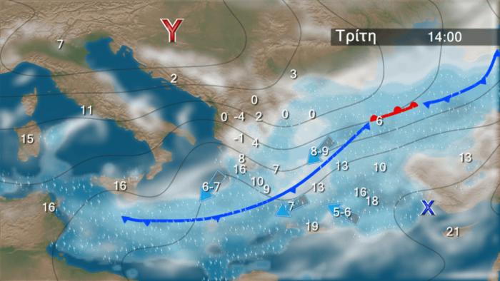 Τριήμερη «επέλαση» του χιονιά: Ο χάρτης της κακοκαιρίας - εικόνα 3