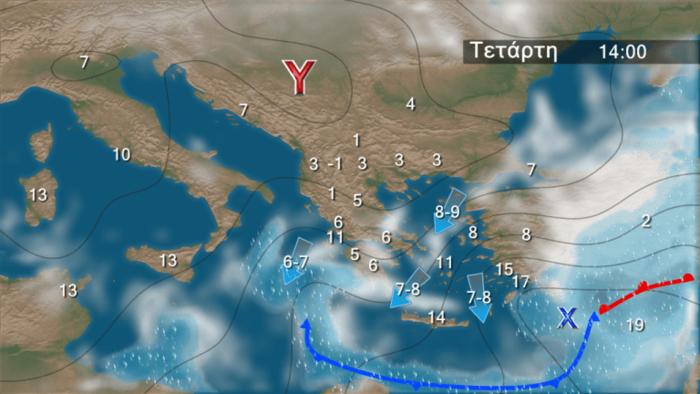 Τριήμερη «επέλαση» του χιονιά: Ο χάρτης της κακοκαιρίας - εικόνα 4