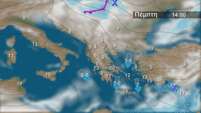 Τριήμερη «επέλαση» του χιονιά: Ο χάρτης της κακοκαιρίας - εικόνα 5