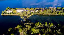 Η μαγευτική λίμνη Καϊάφα από ψηλά