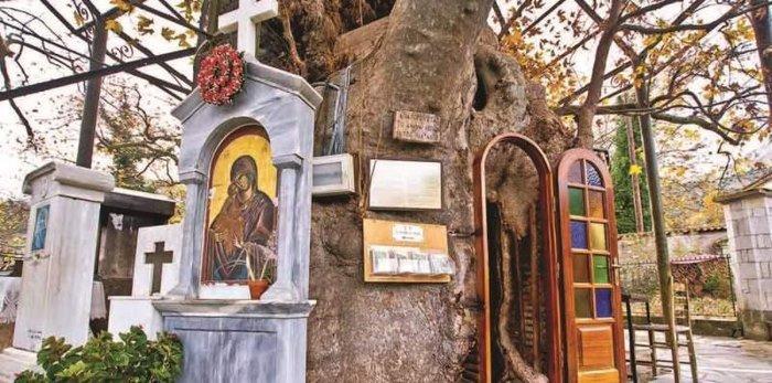 To εκκλησάκι της Παναγίας της Πλατανιώτισσας