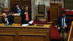 Επεισοδιακοί διάλογοι Τσακαλώτου - Οικονόμου στη Βουλή