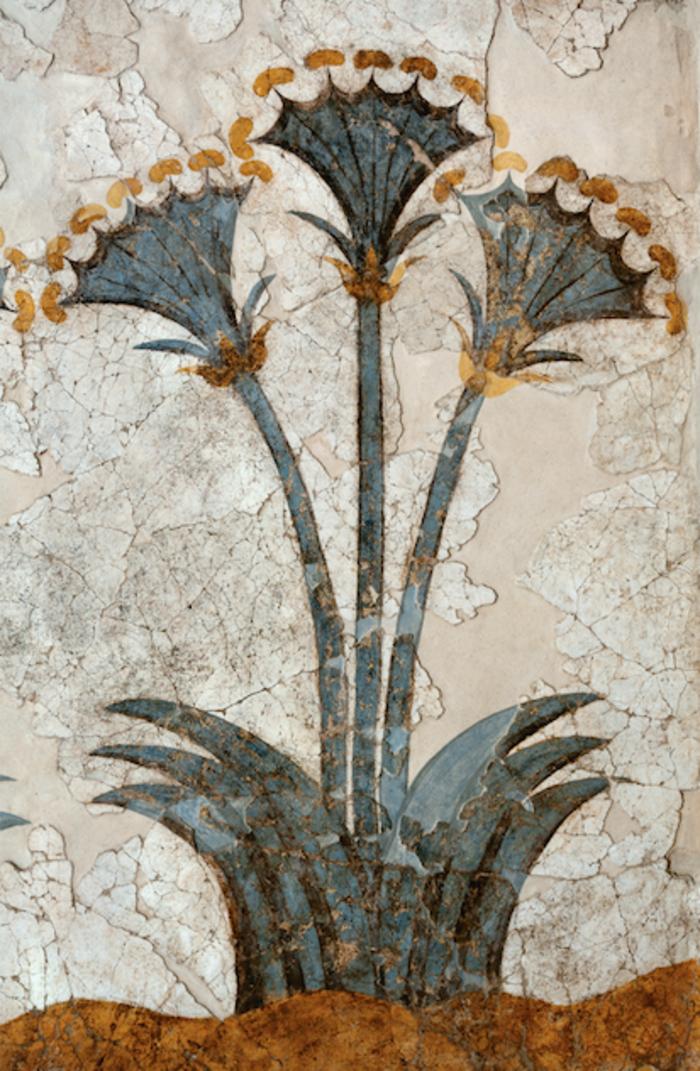 τμήμα της τοιχογραφίας των Παπύρων