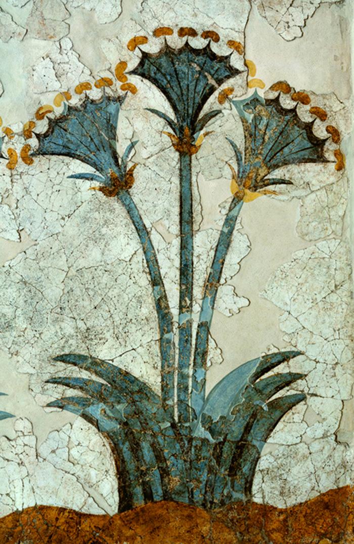 τμήμα της τοιχογραφίας των Παπύρων.