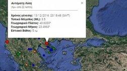 Ασθενής σεισμική δόνηση 3,5 τα ξημερώματα στην Χαλκιδική