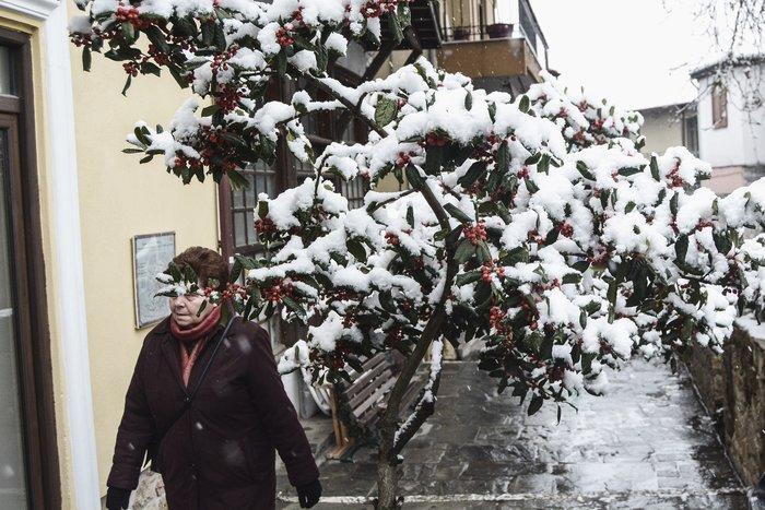 16 υπέροχες φωτογραφίες από την χιονισμένη Αρναία Χαλκιδικής - εικόνα 3
