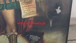 Βεβήλωσαν ναό στην Κρήτη: Έγραψαν ο Αλλάχ είναι μεγάλος-Φωτογραφίες