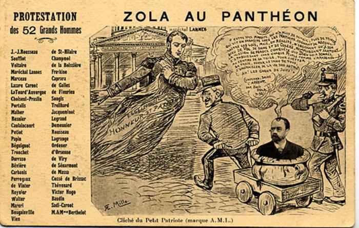 γελοιογραφία της εποχής κατά του Ζολά