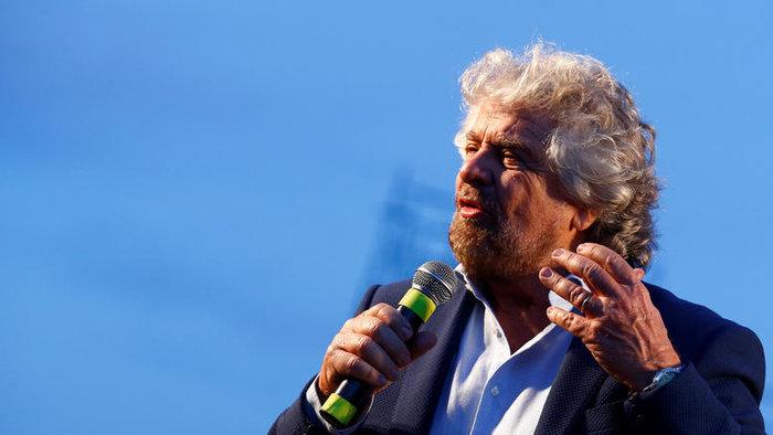 Ο επικεφαλής του κινήματος των Πέντε Αστέρων στην Ιταλία Μπέπε Γκρίλο