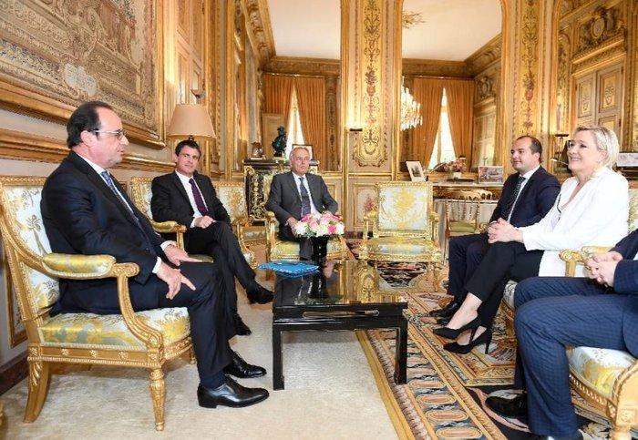 Η επικεφαλής του Γαλλικού Εθνικού Μετώπου Μαρίν Λεπέν