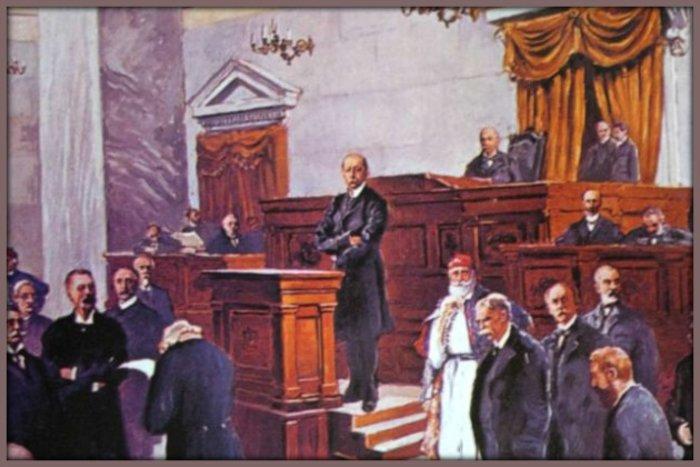 Ο Χ. Τρικούπης στη Βουλή