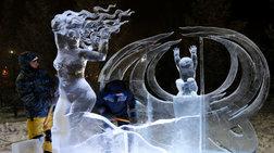 Αριστουργήματα με πάγο και φως στους μείον 19 βαθμούς Κελσίου