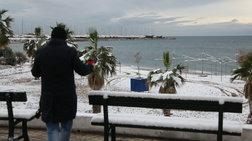 Οι ασυνήθιστες εικόνες της Αθήνας που «ξύπνησε» στα λευκά