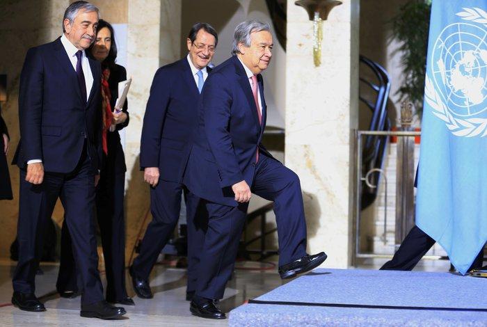 Ο ΓΓ του ΟΗΕ, ο Νίκος Αναστασιάδης και ο Μουσταφά Ακιντζί