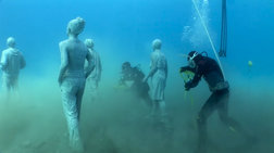 Το πρώτο υποβρύχιο μουσείο γλυπτών στην Ευρώπη. Ενα υπέροχο βίντεο