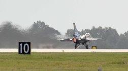 Διθέσιο αεροσκάφος F16 βγήκε από τον αεροδιάδρομο στον Άραξο