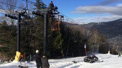 Αίσιο τέλος στην περιπέτεια 25 χιονοδρόμων στα Χάνια Πηλίου
