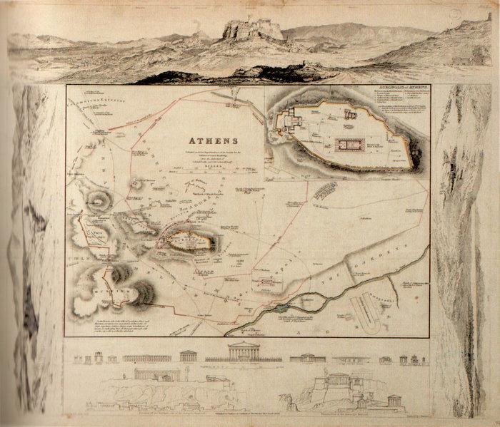 Χάρτης της Πόλεως των Αθηνών, 1832
