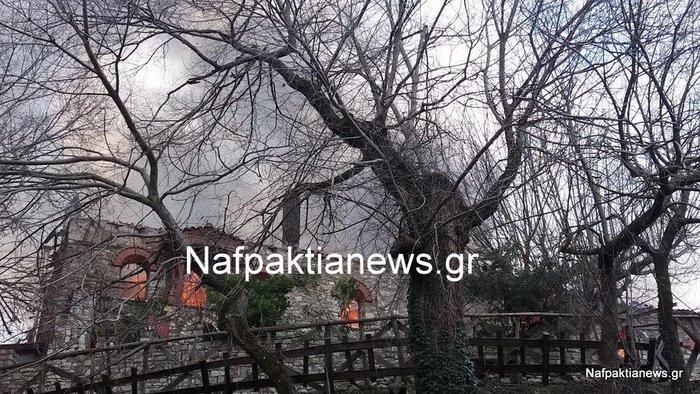 Μεγάλες καταστροφές από τη φωτιά στην Μονή Βαρνάκοβας - εικόνα 5