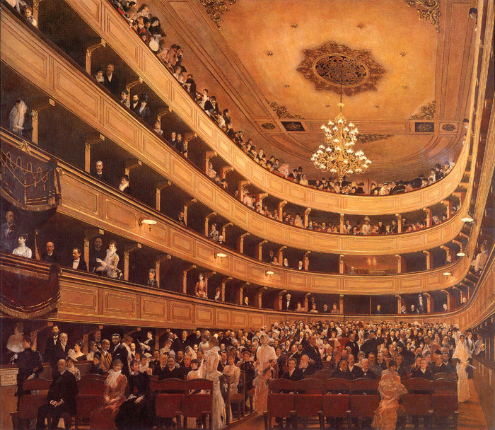 The Old Burgtheater, 1888-1889 - Gustav Klimt