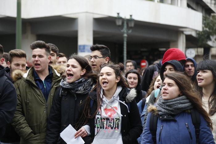 Ενταση στο μαθητικό συλλαλητήριο στην Αθήνα - εικόνα 4