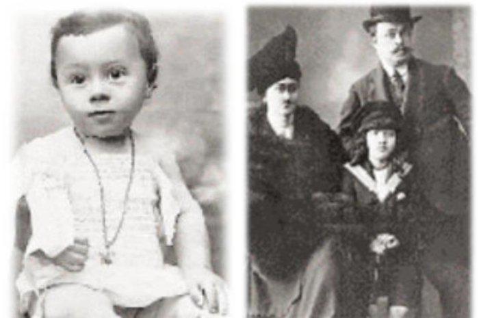Με τους γονείς του