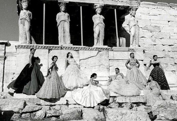 Η φωτογράφιση Ντιορ στην Ακρόπολη, 1951