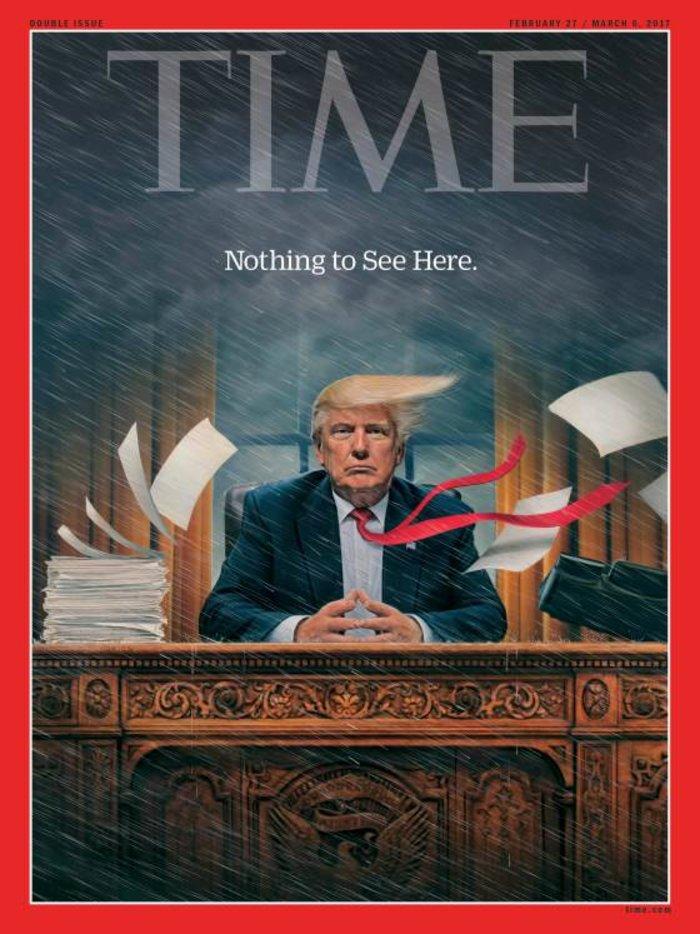 Ο Τραμπ θερίζει θύελλες στο εξώφυλλο του περιοδικού Time