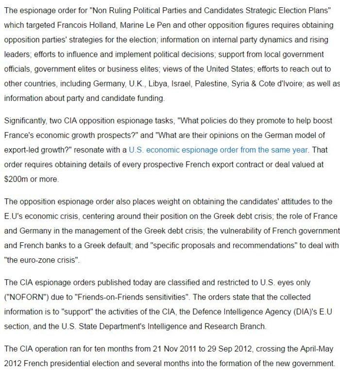 Wikileaks: Η CIA παρακολουθούσε για 10 μήνες την ελληνική κρίση