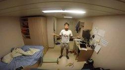 Πώς είναι να βρίσκεσαι σε καμπίνα πλοίου σε μεγάλη τρικυμία [Βίντεο ]