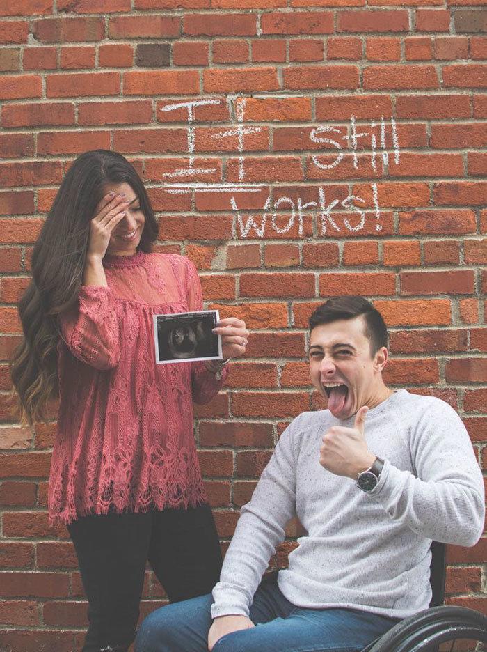«Λειτουργεί ακόμα»: Η πιο ευρηματική ανακοίνωση εγκυμοσύνης που έχετε δει - εικόνα 3