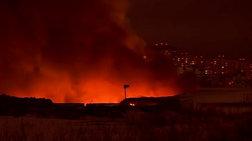 Μεγάλη φωτιά κατακαίει κλειστή αγορά κοντά στη Μόσχα
