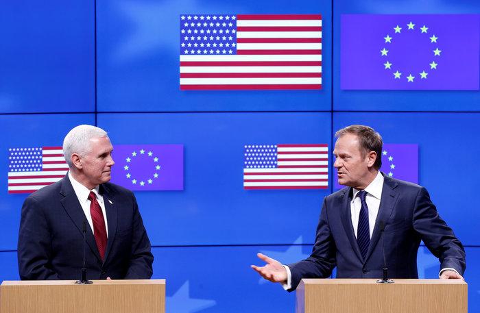 Στις Βρυξέλλες ο αντιπρόεδρος του Τραμπ για επαφές κορυφής