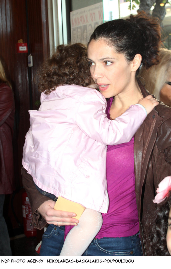 Η Μαριλίτα Λαμπροπούλου με την κόρη της