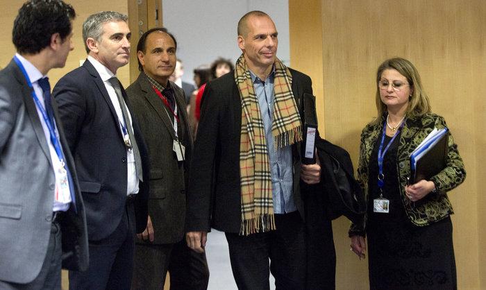 Ο Γιάνης Βαρουφάκης στο Eurogroup