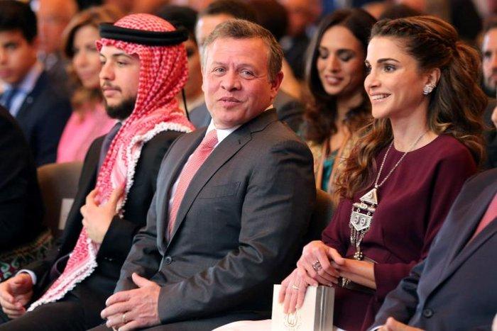 Η βασίλισσα Ράνια της Ιορδανίας με τον σύζυγο της