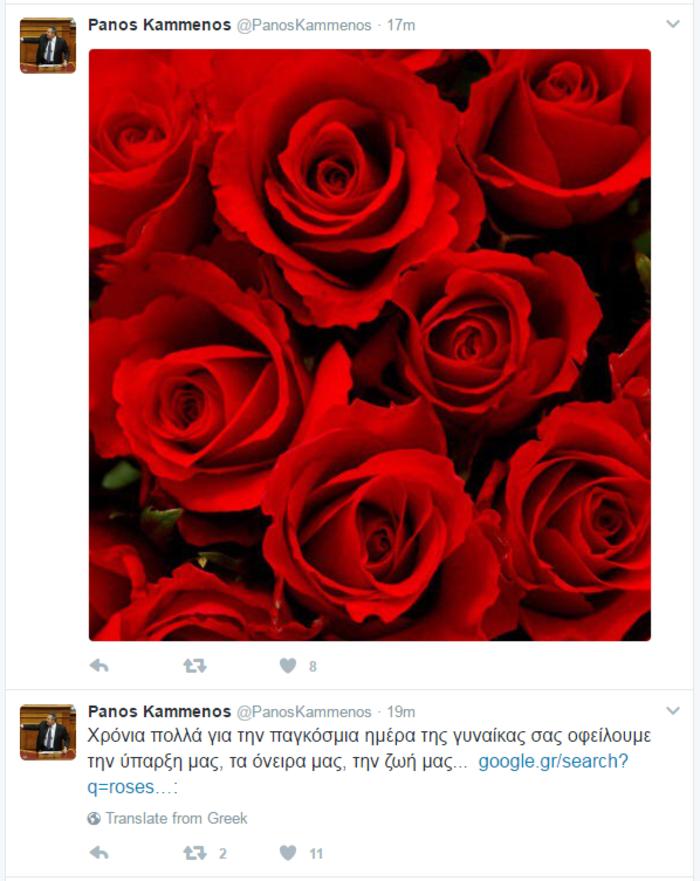 Η γκάφα του Καμμένου στο Twitter για την Ημέρα της Γυναίκας - εικόνα 2